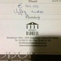 Photo taken at Brasschaats Badhuis by Yentl V. on 2/10/2012