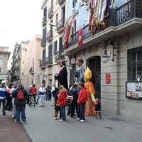 Photo taken at Plaça de la Vila de Gràcia by nuriacastells on 2/19/2012
