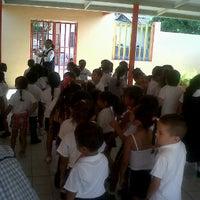Photo taken at Kinder Gral. Ignacio Zaragoza  Valle De Banderas by Paty V. on 6/4/2012