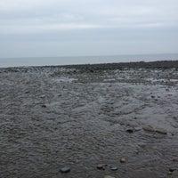 Photo taken at Aberarth Beach by Kelly B. on 5/3/2012