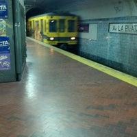 Photo taken at Estación Av. La Plata [Línea E] by Matuteen on 4/29/2012