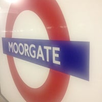 Photo taken at Moorgate Railway Station (MOG) by Livvy A . on 5/17/2012