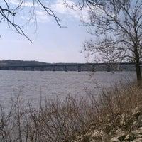 Photo taken at Fred Schwengel Memorial Bridge by Nate B. on 3/18/2012