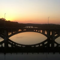 Photo taken at Pfluger Pedestrian Bridge by Jen B. on 8/21/2012