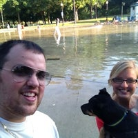 Photo taken at Hawthorn St Dog Park by Jim N. on 8/13/2012