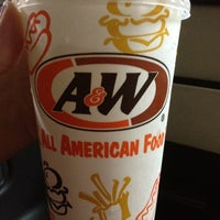 Photo taken at A&W 屋宜原店 by Yurika S. on 6/22/2012