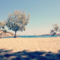 Photo taken at Agriolivadi beach by Manos L. on 8/14/2012
