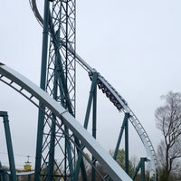 Photo taken at Alpengeist - Busch Gardens by Robert Z. on 3/25/2012