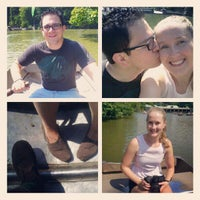 Photo taken at Central Park Rowboat by Esteban C. on 9/1/2012