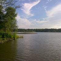 Photo taken at Fleet Pond by veronica s. on 9/1/2012