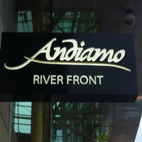 Photo taken at Andiamo Detroit Riverfront by Kelly S. on 2/14/2012