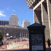 Photo taken at Boston City Hall by Edward L. on 7/30/2012