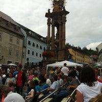 Photo taken at Námestie sv. Trojice by Ludo K. on 7/14/2012