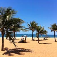 Photo taken at Praia da Costa by Natasha on 3/3/2012