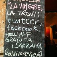 Photo taken at Enoteca La Vingerie by giacomo b. on 8/30/2012