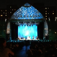 Photo taken at Damrosch Park by Darin D. on 8/11/2012