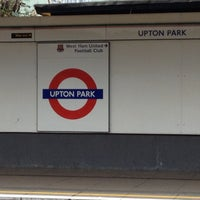 Photo taken at Upton Park London Underground Station by Ievzii on 4/15/2012