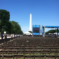 Photo taken at GWU Graduation Ceremony on the National Mall 2012 by Meredith D. on 5/20/2012