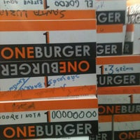 Photo taken at One Burger by Caixeiro V. on 8/28/2012