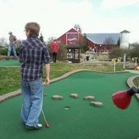 Photo taken at Udders and Putters Mini Golf Course by Brian D. on 3/18/2012