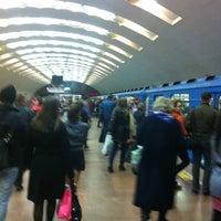Снимок сделан в Метро «Площадь Ленина» пользователем Вадим Dj Ritm Б. 4/16/2012