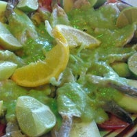 Photo taken at Zamoras Mariscos by Grace M. on 8/7/2012