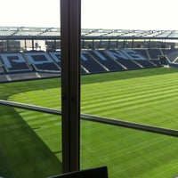 Photo taken at Boulevard Members Club at Sporting Park by josh r. on 5/5/2012