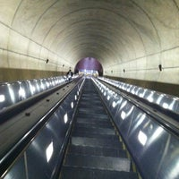 Photo taken at Wheaton Metro Station by Ashley C. on 4/3/2012