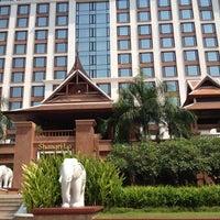 Photo taken at Shangri-La Hotel by Eve N. on 3/15/2012