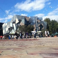 Photo taken at Tram Stop 13 - Federation Square (3/3a/5/6/16/64/67/72) by Andris A. on 4/11/2012