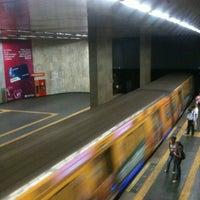 Photo taken at MetrôRio - Estação Uruguaiana by Fernanda R. on 2/24/2012