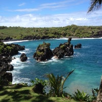 Photo taken at Black Sand Beach by Leah T. on 4/25/2012