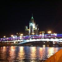 Photo taken at Bolshoy Ustyinsky Bridge by Tatyana Z. on 8/30/2012