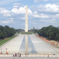 Photo taken at Lincoln Memorial Reflecting Pool by Jan on 7/15/2012