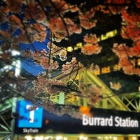 Photo taken at Burrard SkyTrain Station by Hisa W. on 4/8/2012
