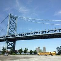 Photo taken at Benjamin Franklin Bridge by Heidi D. on 5/17/2012