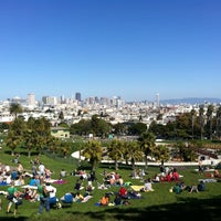 Photo taken at Mission Dolores Park by Tran M. on 3/4/2012