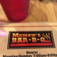 Photo taken at Memaw's Bar-BQ by Todd F. on 8/19/2012