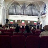 Photo taken at Sala Filarmonica Vincenzo Gianferrari by Monica Z. on 5/11/2012