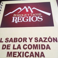 Photo taken at Pozole y Tacos Regios by Alberto R. on 8/10/2012