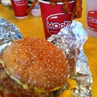 Photo taken at MOOYAH Burgers, Fries & Shakes by Tanya R. on 5/8/2012