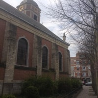 Photo taken at Parvis Saint-Pierre / Sint-Pietersvoorplein by Julien C. on 4/17/2012