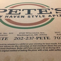Photo taken at Pete's New Haven Style Apizza by Chris M. on 6/8/2012