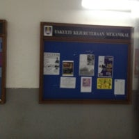Photo taken at Faculty of Mechanical Engineering by Noraini I. on 6/10/2012