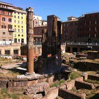 Photo taken at Largo di Torre Argentina by Giulia R. on 7/12/2012