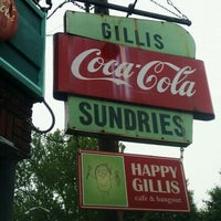 Photo taken at Happy Gillis Cafe & Hangout by Jane H. on 4/29/2012