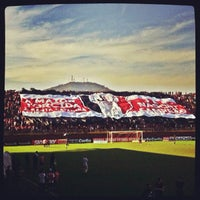 Photo taken at Estádio Arena Joinville by Paulo Henrique S. on 8/4/2012