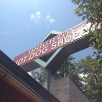 Photo taken at Brighton Hot Dog Shoppe by Anita G. on 7/10/2012