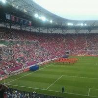 Photo taken at Stadion Wrocław by Jarek K. on 6/12/2012