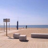 Photo taken at Prat Beach by Rafa on 5/10/2012